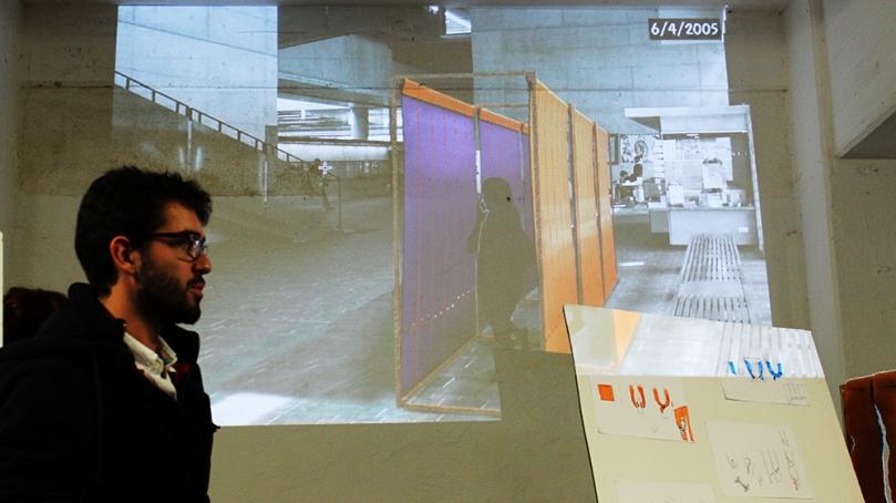 Alice Paupinet (DE) et Alexis Niobey (DP) cloison modulable pour espaces publics